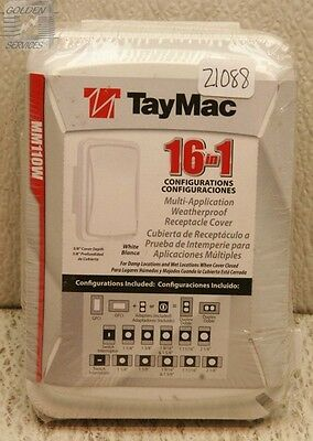 TayMac MM110W Weatherproof Receptacle Cover