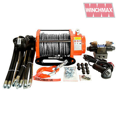 HYDRAULIC WINCH 15000 lb WINCHMAX BRAND WITH SYNTHETIC ROPE