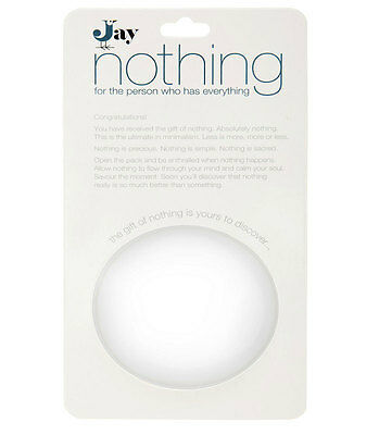 Gift of Nothing Novelty Quirky Christmas Birthday All Occasion Gag Fun Gift