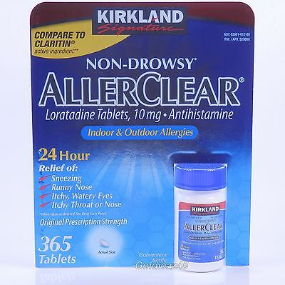 Kirkland AllerClear Non Drowsy 365 Tabs 24 Hour Allergy Relief
