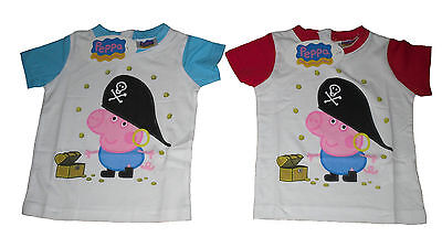 Baby Boys T-Shirt Top George Pig 12 - 30 Months