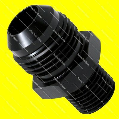 AN10 Aluminium Straight Male Flare to M16x1.5 Metric Fitting Adapter - Black