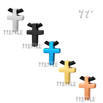 High Quality TT 316L Stainless Steel Mini Cross Pendant 5 Colour Available NP235