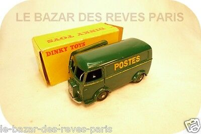 PEUGEOT D3A POSTES  (décalco)  DINKY TOYS  REF: 25BV + boite