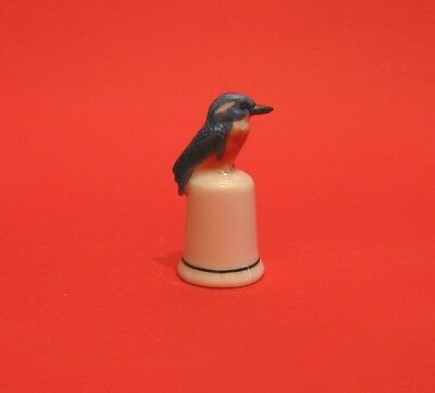 Super Kingfisher Ceramic Collectable Thimble Wild Life Collectible Thimble