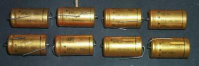 8_pcs._470 uF / 100 Volts_ROE_(Roederstein)_Electrolytic_Capacitors_[=T=]