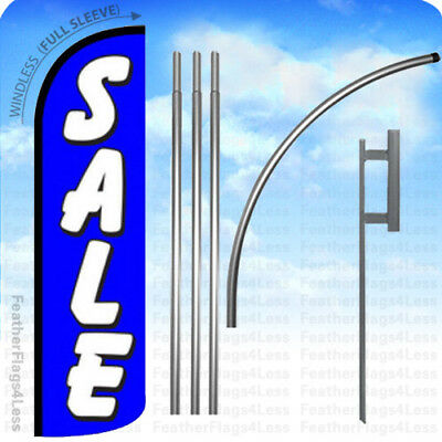 WINDLESS Swooper Feather Full Sleeve Banner Sign Flag KIT - SALE blue q