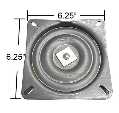 "Bar Stool Swivel Plate w/ 3 Degree Pitch Angle - 6.25"" - Made in USA - S4694"