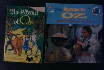 Lot of 2 WIZARD OF OZ return to oz books 1960'S/1980's TEACH YOUR CHILD TO READ