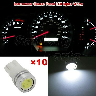 10x White High Power LED Instrument Panel Cluster 1-Epistar Lamp Light 194 168