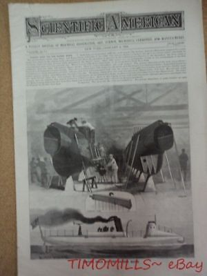 1895 Improved Gatling Gun Army Navy Models Scientific American Antique