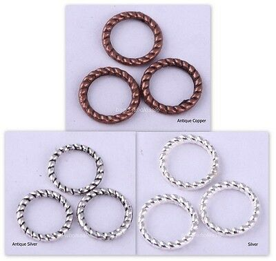 60Pcs 3Colors Twist-Ring Charm Finding for Jewelry Making 8mm U pick