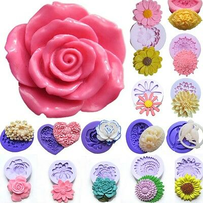 Flower Fondant Silicone Mold Polymer Clay Sugarcraft Cake Candy Chocolate Mould