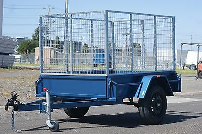 Cage 6x4 Box Trailer with 3ft Galvanised Cage & Jockey Wheel