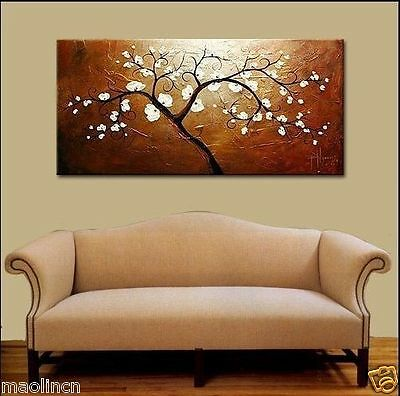 MODERN ABSTRACT HUGE WALL ART OIL PAINTING ON CANVAS tree (No frame)