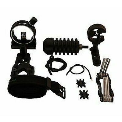 UPGRADE KIT COMPOUND BOW - STABILIZER OPTIC SIGHT ARROW REST Peep String6in1set