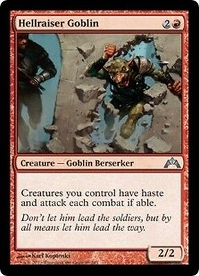MTG Magic GTC - (4x) Hellraiser Goblin/Gobelin godailleur, English/VO