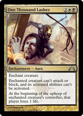 MTG Magic GTC - (4x) One Thousand Lashes/Mille coups de fouet, English/VO