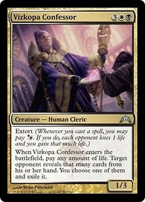 MTG Magic GTC - (4x) Vizkopa Confessor/Confesseur de Vizkopa, English/VO