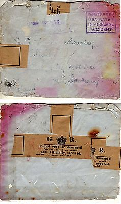 Crash mail letter 1937 India