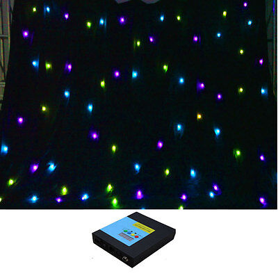 3m x 4m RGB 3in1 FULL COLOR DMX fireproof LED stage DJ Party wall  Curtain