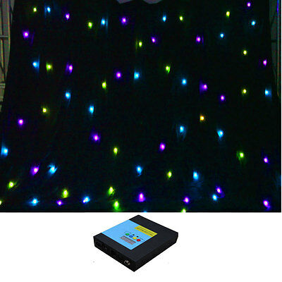 3m x 4m RGB 3in1 FULL COLOR DMX fireproof LED stage DJ Party Backdrop Curtain