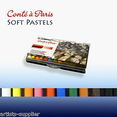 Conte 10 Soft Pastels Set - Assorted Artists Colours for Drawing & Sketching