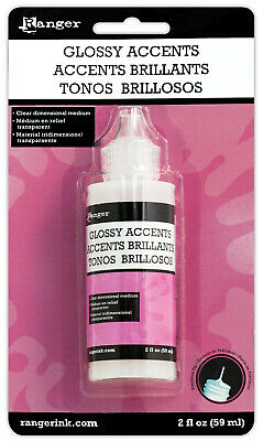 Ranger Inkssentials Glossy Accents 2 fl oz. Water-based Dimensional Adhesive