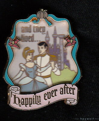 Disney PRINCESS CINDERELLA & PRINCE CHARMING They Lived Happily Ever After Pin