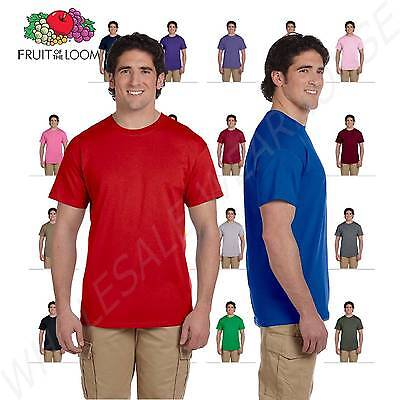 NEW Fruit of the Loom Men's 5 oz 100% Heavy Cotton HD S-3XL T-Shirt 3931