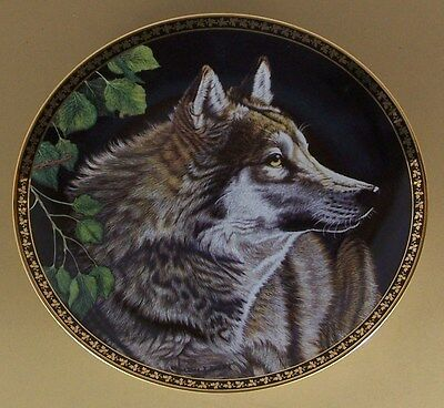 The American Wilderness SILENT PURSUIT Plate Martiena Richter Wolf Wolves + COA
