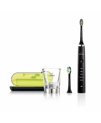 New Philips Sonicare Diamond Clean Black Electric Toothbrush Black Hx9352/04