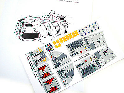 CUSTOM 'DIE CUT' REPLACEMENT STICKERS for STAR WARS IMPERIAL CRUISER SEARS EXCL