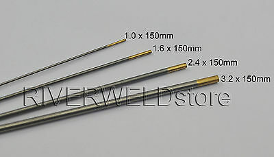 1.5% Lanthanated WL15 TIG Welding Tungsten Electrode Assorted Size 1.0~3.2mm,4PK