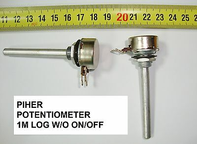 Potenciometro  Carbon Piher Potentiometer. Piher 1M Log S/i W/o On/off. P10
