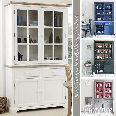 Florence Large DresserKitchen Diningroom Glass Display Cabinet QualityASSEMBLE