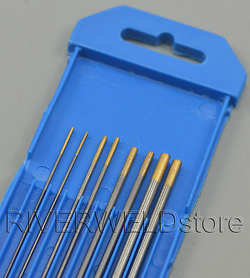 1.5% Lanthanated WL15 Gold TIG Welding Tungsten Electrode Assorted 1.0~3.2mm,8PK