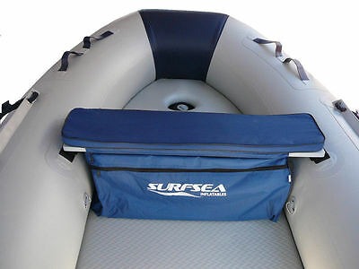Padded Seat Cushion with Underseat Storage Bag for Inflatable Boats