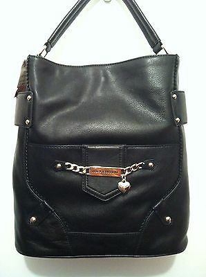 REDUCED!!  Juicy Couture Gorgeous Black Genuine Leather Shopper/Tote. NWT.
