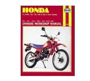 Honda XL/XR80-200 1978-1987 Haynes Workshop Service Manual