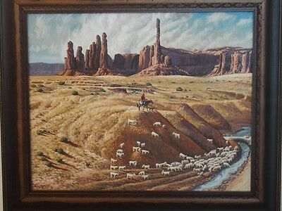 Irving Toddy Original Oil On Canvas Painting / Navajo