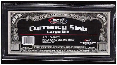 (4) BCW Deluxe Currency Slab - LARGE  Bill - for Modern Currency, Acid Free k2