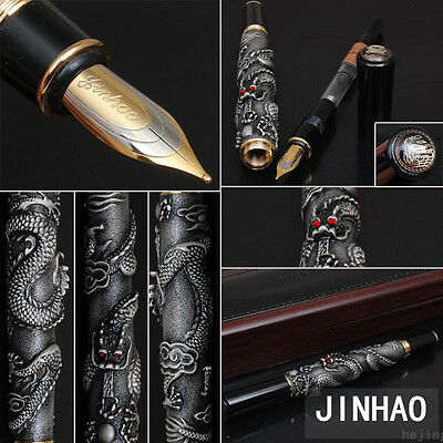 JINHAO China Senior Eastern Dragon silver Dragon Business office Fountain Pen