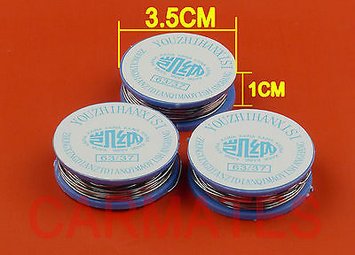 3 Reels Tin Lead Solder 63Sn/37Pb 0.8mm 5 METERs for Soldering iron station OZ