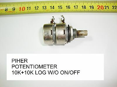 Potenciometro Carbon. Carbon Piher Potentiometer.10K + 10K Log S/i W/o On/off
