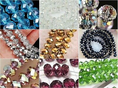 Beautiful !!!!Wholesale New 9 Colors  Crystal Loose Beads 4x6mm /6x8mm