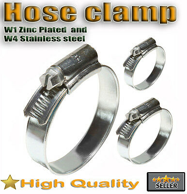 Stainless Steel 316ss Hose Clips Pipe Clamps Jubilee Jcs Type W4 & Zinc Plated