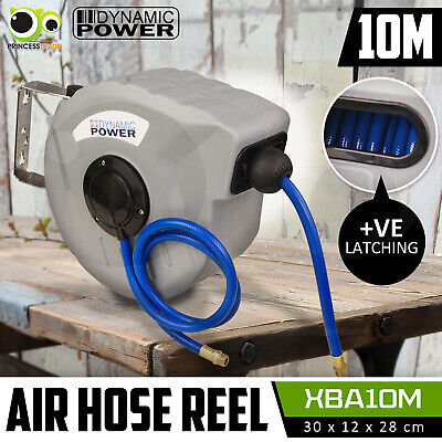 10m Retractable Auto Rewind Air Hose Reel Industrial Grade Tool Wall Mount