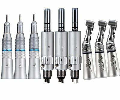 3 Dental Slow Low Speed Handpiece Straight Air Motor NSK Type Contra Angle 4HOLE