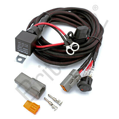 12V Wiring kit Includes Switch & Relay for LED Spotlights Work Fog light Bar